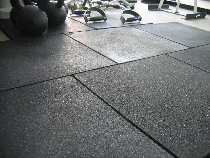 Crossfit rubber tiles gym the company