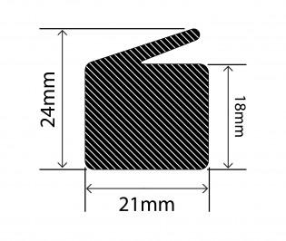 Lip seal profile