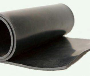 Black Shotblast Rubber Sheeting 50° Shore