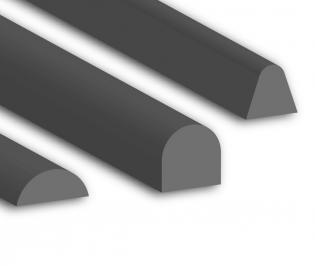 Solid Silicone D Profiles